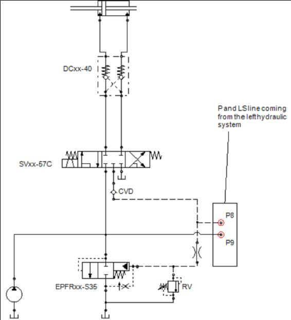 Directional Control Circuit with 5-way Directional control Valve